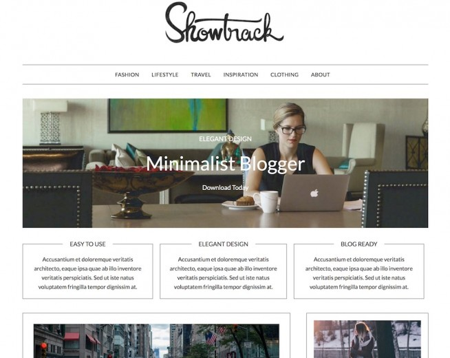 MinimalistBlogger – Free minimalist blog WordPress theme