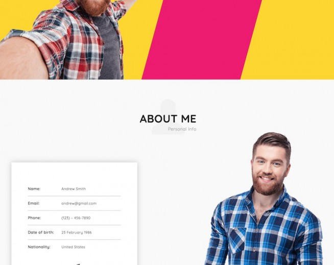 Monty – Free Resume WordPress Theme