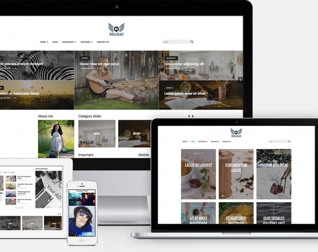 Nickel – Free Magazine, Portfolio WordPress theme