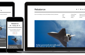 Rebalance – Free minimalist WordPress theme for bloggers, Photographers