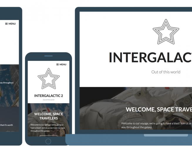 Intergalactic 2 – a stunning and elegant Bold WordPress theme