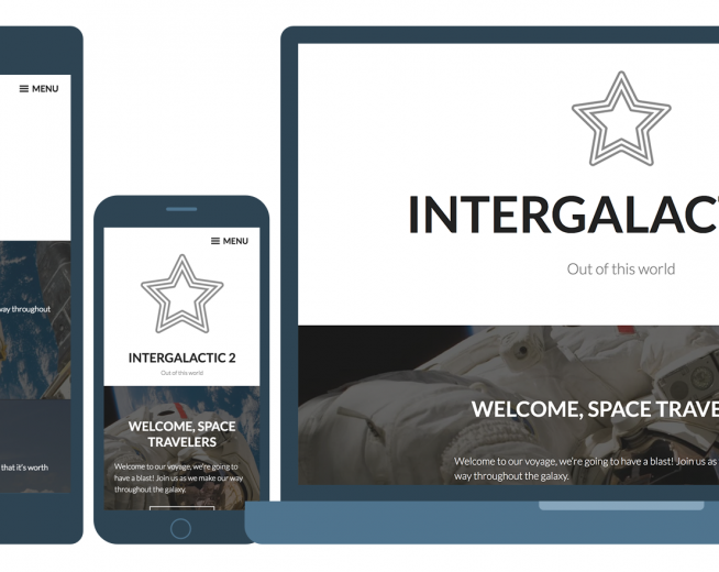 Intergalactic 2 – a stunning and elegant Bold WordPress theme