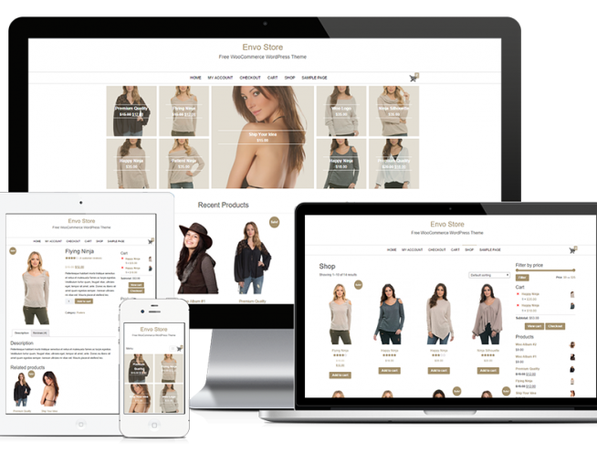ENVO STORE – Free and fast loading E-commerce WordPress theme