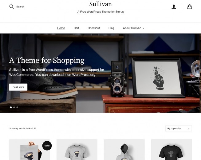 Sullivan – Free Woocommerce WordPress theme