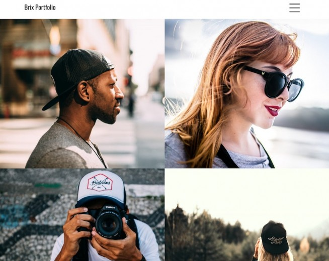 Brix Portfolio – Simple Porfolio WordPress theme