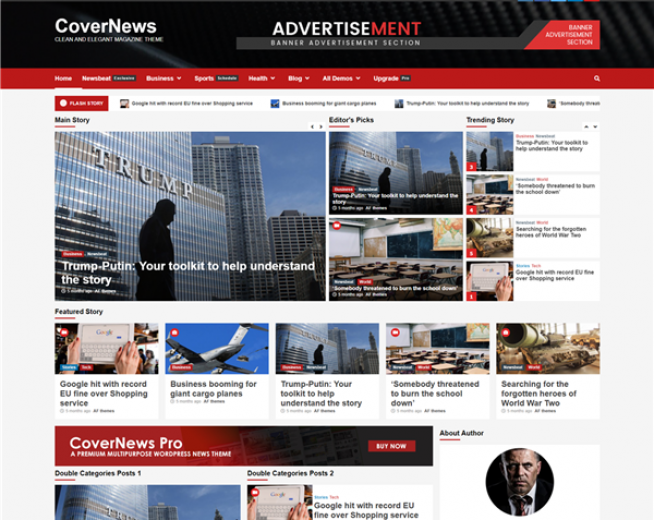 CoverNews – a Free elegant News WordPress theme