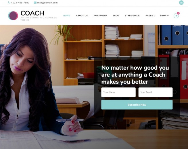 Blossom Coach – Free business WordPress theme