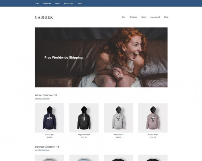 Cashier – Free lightweight Woocommerce WordPress theme