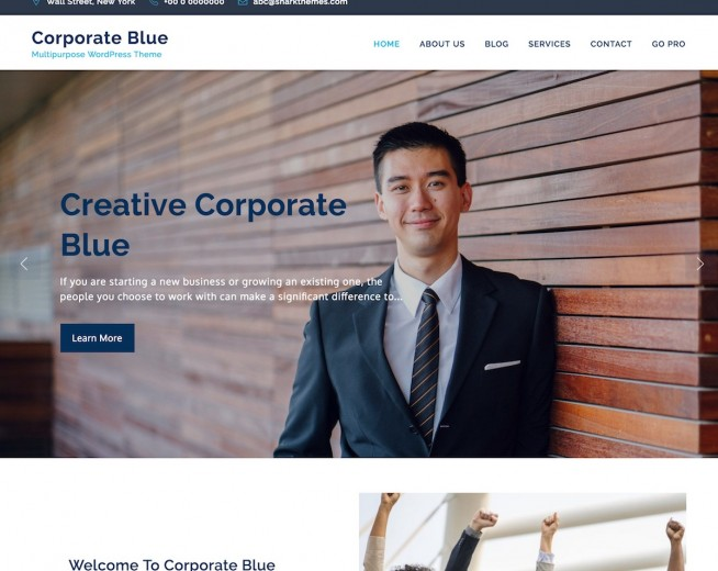 Corporate Blue – Free multi-purpose business WordPress theme