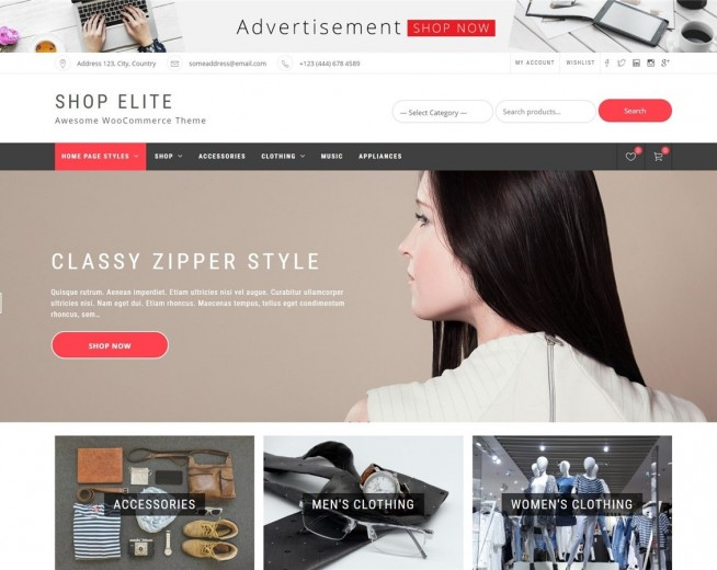 Shop Elite – Free Woocommerce WordPress theme