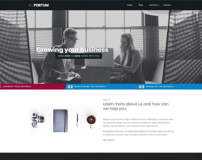 Portum – Free Business WordPress Theme