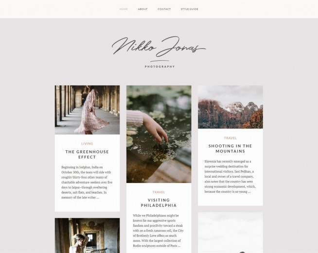 Nikko Portfolio – Free WordPress blog theme