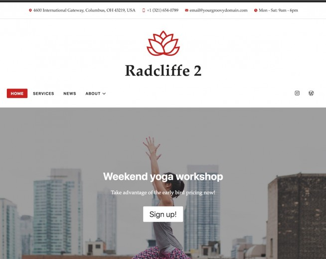 Radcliffe 2 – Free professional WordPress theme