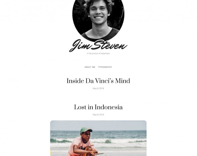 Steven – Free minimalist WordPress blog theme