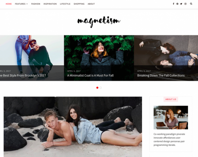 Magnetism – A beautiful blogging and magazine-style WordPress theme