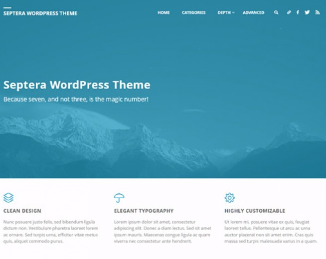 Septera – Free Minimalist and Professional Photography WordPress theme