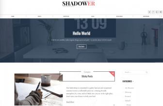 Shadower – Free business blog WordPress theme