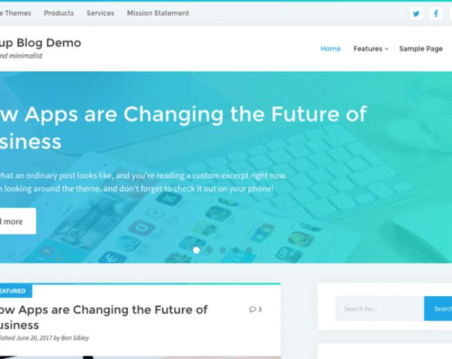 Startup Blog – free corporate,company blog WordPress Theme