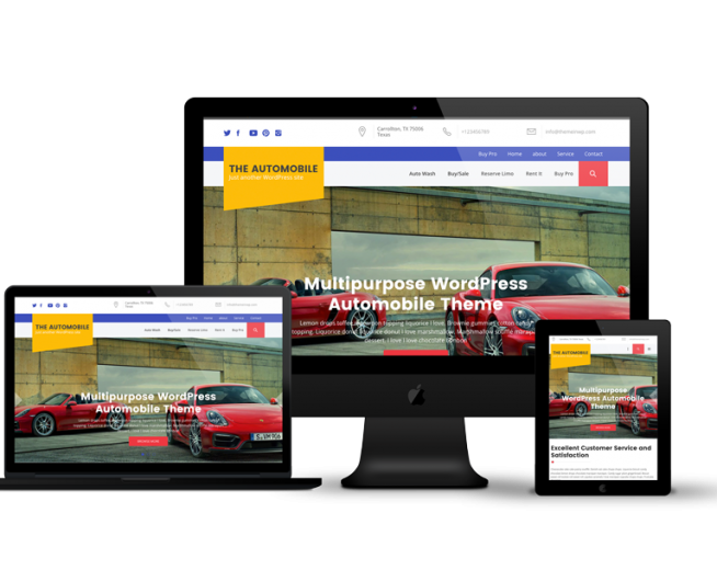 The Automobile – Free premium Multipurpose WordPress Automobile Theme