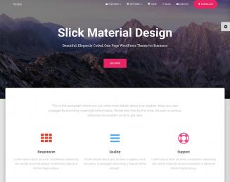 Hestia – Free Material Design WordPress Theme