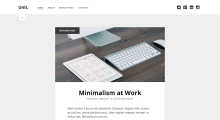 Unit WordPress Theme – Simple and Clean blogging WordPress theme