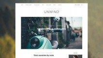 UnWind- Minimalist blog WordPress theme with Woocommerce Ready