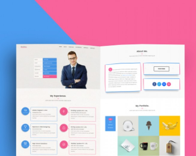 WebRes – Free One page Resume WordPress theme