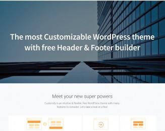 Customify – Free Corporate WordPress theme