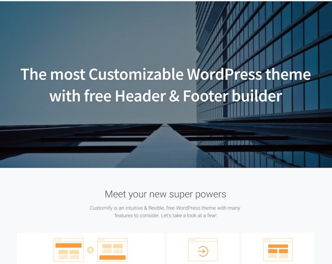 Customify – Free Corporate WordPress theme