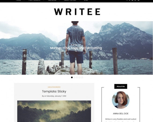 Writee – Free WordPress blog theme